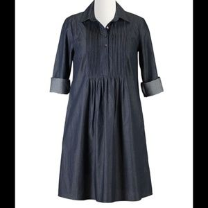 Eshakti Dresses - Eshakti Chambray Shirt Dress Size 14
